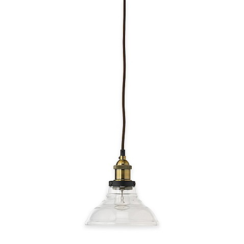 Buy jamie young factory bell 1 light pendant in brass for Jamie young lighting pendant