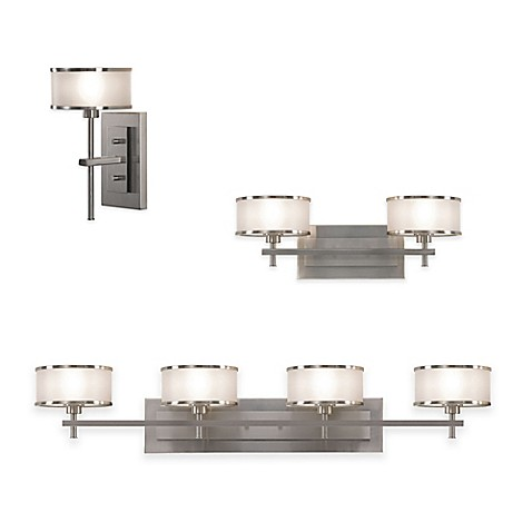 Feiss Casual Luxury Bath Lighting Fixtures In Brushed Steel Bed Bath Beyond