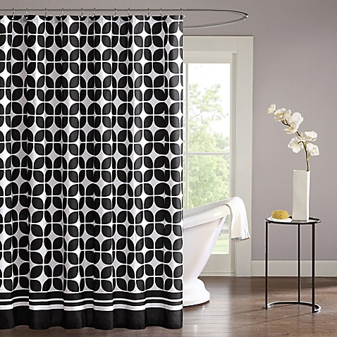 Buy intelligent design lita shower curtain in black from - Intelligent shower ...