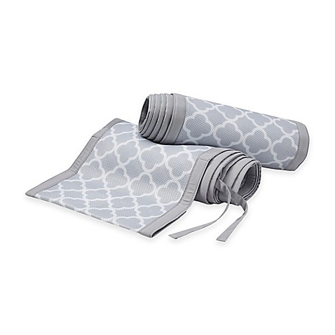 BreathableBaby® Breathable Mesh Crib Liner in Grey Clover
