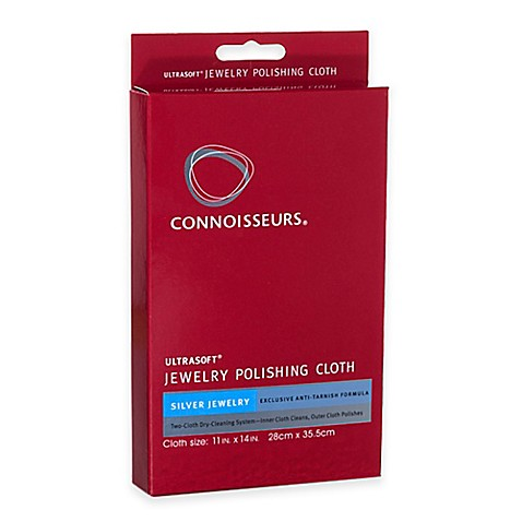 Buy connoisseurs silver jewelry polishing cloth kit from for Jewelry cleaning kit target