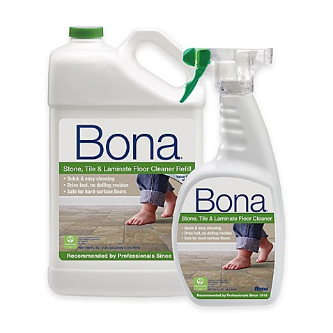Bona® 160 oz. Stone, Tile, and Laminate Floor Cleaner Refill with 22 ...