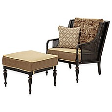 image of Bombay® Sherborne 2-Piece Chair and Ottoman Set in Brown