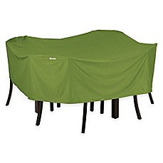 Image Of Classic Accessories® Sodo Square Patio Table And Chair Cover In  Green