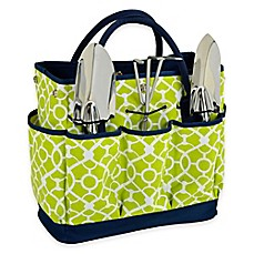 Image Of Picnic At Ascot Trellis Green Gardening Tote With Tools