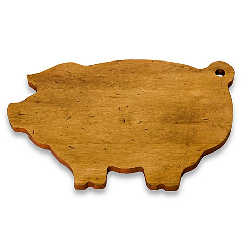 J K Adams Co Novelty Cutting Board In Pig Bed Bath
