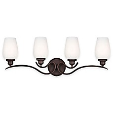 image of Feiss® Standish 4-Light Vanity Fixture in Oil-Rubbed Bronze