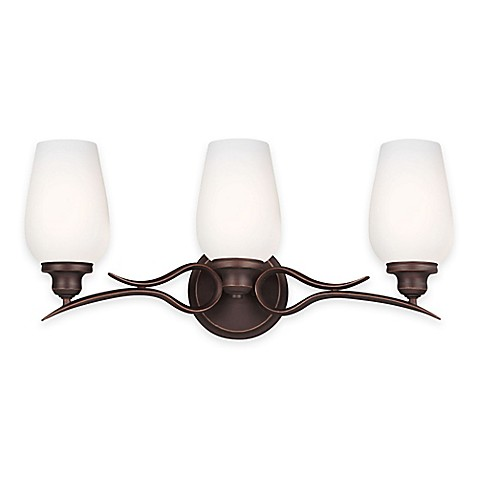 Buy Feiss Standish 3 Light Vanity Fixture In Oil Rubbed Bronze With Cfl Bulbs From Bed Bath