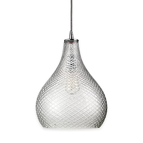Buy jamie young large curved cut glass 1 light pendant in for Jamie young lighting pendant