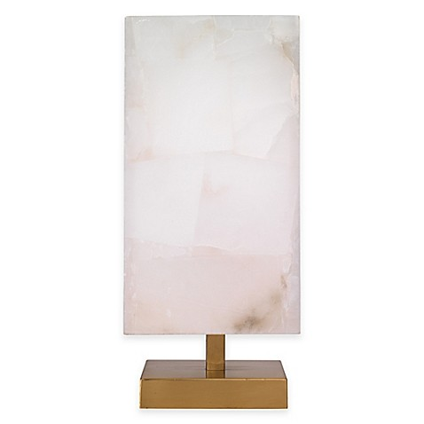 jamie young ghost axis table lamp with alabaster shade bed bath