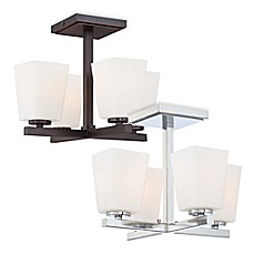 image of minka lavery city square 4 light semi flush mount ceiling fixture bed bath and beyond lighting