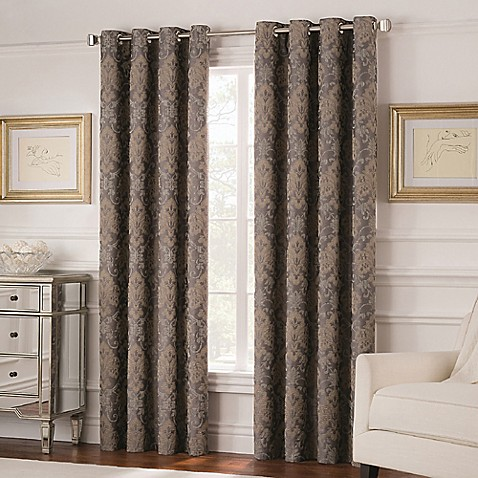 Buy Valeron Belvedere 63 Inch Grommet Top Room Darkening Window Curtain Panel In Grey From Bed