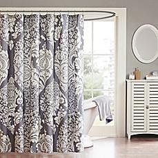 Merveilleux Madison Park Vienna Cotton Shower Curtain In Slate