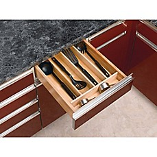 image of revashelf wood cabinet drawer utility tray insert