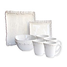 image of American Atelier Bianca Wave 16-Piece Dinnerware Set