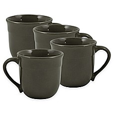image of Emile Henry Mugs in Charcoal (Set of 4)