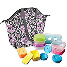 image of Fit & Fresh Davenport 14-Piece Portion Control Lunch Set w/Davenport Insulated Chiller Bag