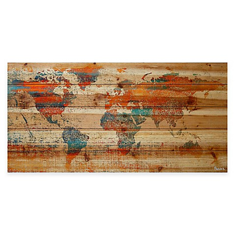 Parvez Taj Global Warming Natural Pine Wood Wall Art Bed