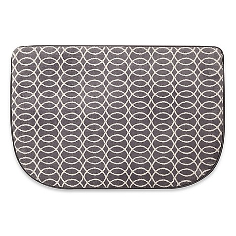 microdry memory foam hd 22 inch x 32 inch textra kitchen mat in grey bed bath beyond. Black Bedroom Furniture Sets. Home Design Ideas