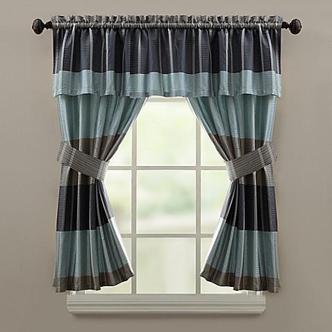 Croscillreg Fairfax Bath Window Curtain Valance In Slate