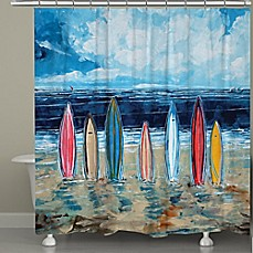 image of Laural Home® Surfboards Shower Curtain