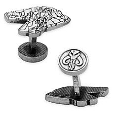 image of Star Wars™ Silver-Plated Boba Fett Slave I Etched Cufflinks