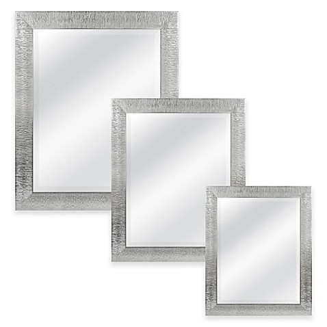 silver bathroom mirror rectangular rectangular mirror in silver bed bath amp beyond 20358 | 7436053282305m?$478$