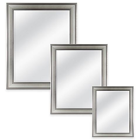 Mason rectangular mirror in silver bed bath beyond - Silver bathroom mirror rectangular ...
