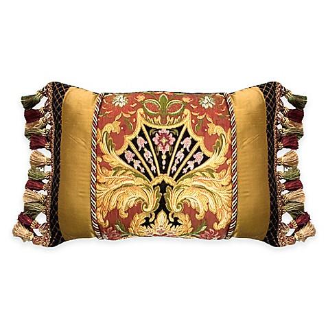 Austin Horn Classics Ashley Oblong Throw Pillow in Gold - Bed Bath & Beyond