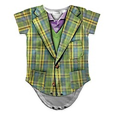 image of Faux Real Photorealistic Plaid Suit Short Sleeve Bodysuit