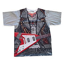 image of Faux Real Photorealistic Rockstar Short Sleeve T-Shirt