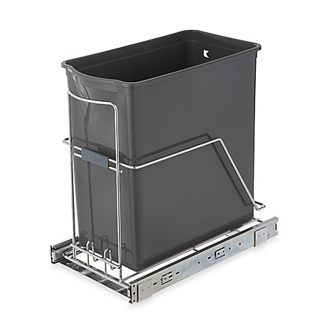 image of real simple 30liter pullout trash can