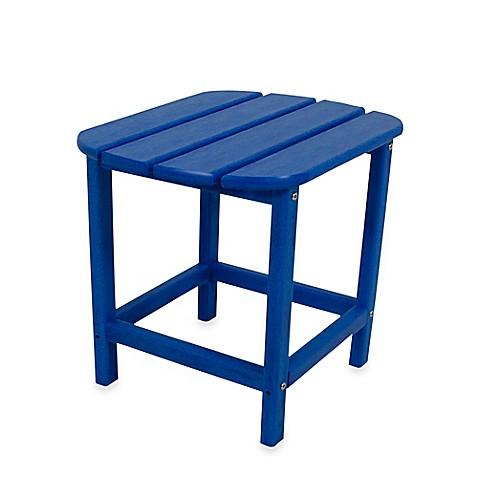 Buy Polywood 174 Folding Adirondack Side Table In Pacific