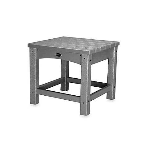 Polywood club side table bed bath beyond for Functional side table