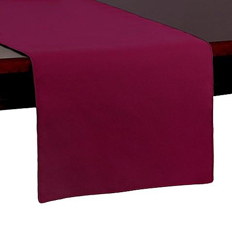 Buy Spun Polyester 54 Inch Table Runner In Burgundy From