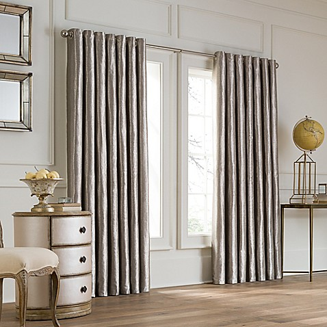 buy valeron lustre grommet top 108 inch wide x 120 inch long window curtain panel in nickel from. Black Bedroom Furniture Sets. Home Design Ideas