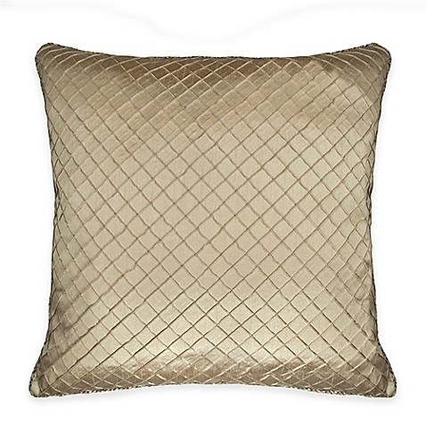 Austin Horn Classics Casablanca Diamond-Stitched European Pillow Sham in Gold