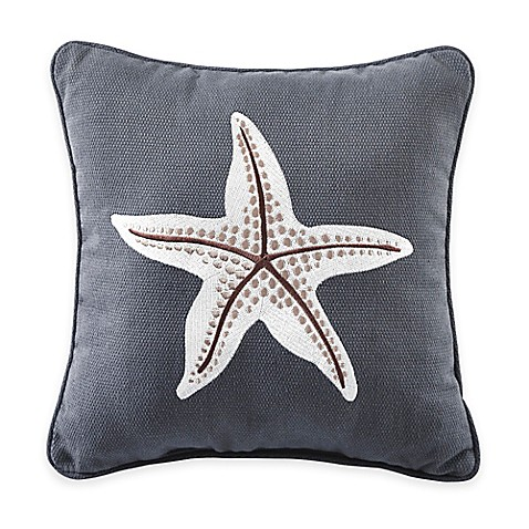 Medium Blue Throw Pillows : Buy Croscill Yachtsman Starfish Square Throw Pillow in Medium Blue from Bed Bath & Beyond