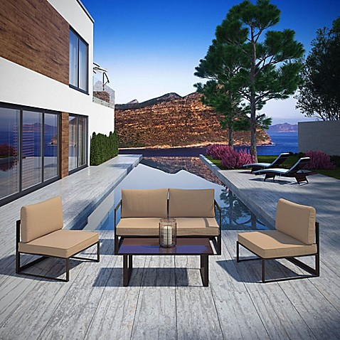 image of Modway Fortuna Outdoor Patio Furniture - Patio Furniture Sets & Collections, Outdoor Patio Furniture - Bed