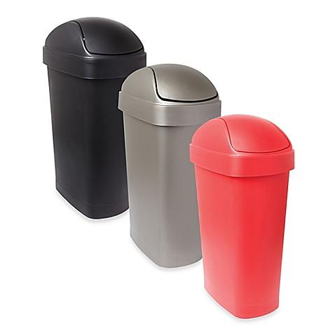 umbra flippa 8 gallon trash can bed bath beyond. Black Bedroom Furniture Sets. Home Design Ideas