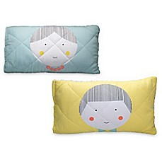 image of Greenbuds Jack & Jill Organic Cotton Quilted Toddler Pillow Cover