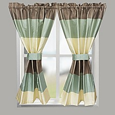 image of croscill fairfax 64inch rod pocket bath window curtain panel