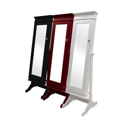 Mirror Jewelry Armoires Hanging Standing Jewelry Armoire Bed