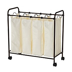 image of Household Essentials® Rolling Quad Laundry Sorter