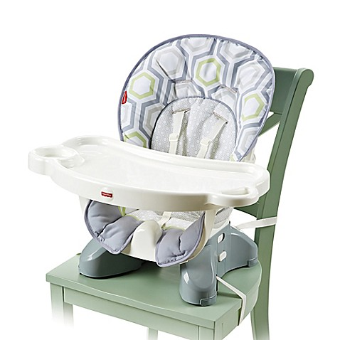 fisher-price® spacesaver high chair in geo meadow™ - buybuy baby