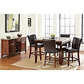 Montibello Counter Height 6 Piece Dining Set In Cherry