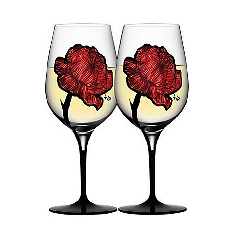buy kosta boda tattoo wine glasses set of 2 from bed bath beyond. Black Bedroom Furniture Sets. Home Design Ideas