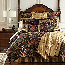 image of Austin Horn Classics Escapade Reversible Comforter Set in Black