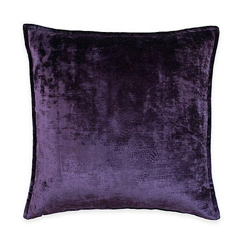 Purple Decorative Pillow : Austin Horn Classics Escapade Velvet Square Throw Pillow in Purple - Bed Bath & Beyond