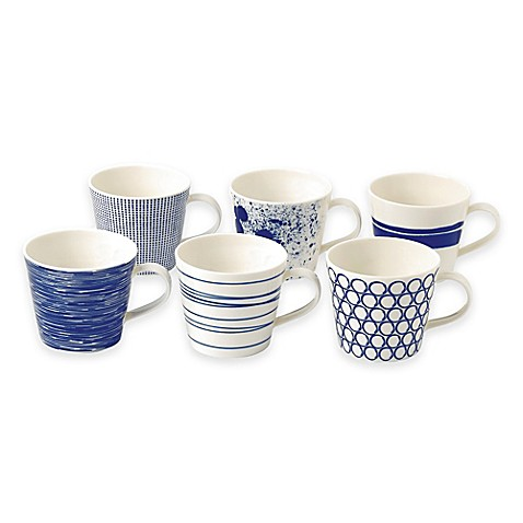 Royal Doulton 174 Pacific Mugs Set Of 6 Bed Bath Amp Beyond